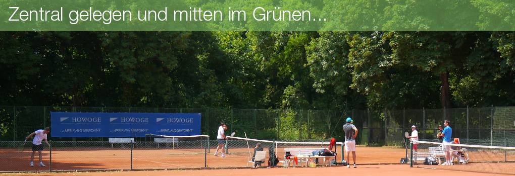 Tennis mitten im Grünen
